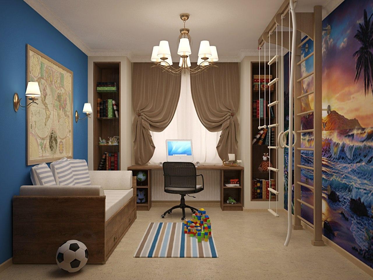 Дизайн детский комнаты для мальчика