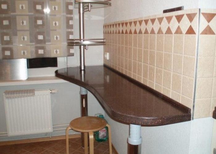 Пристенная стойка для кухни
