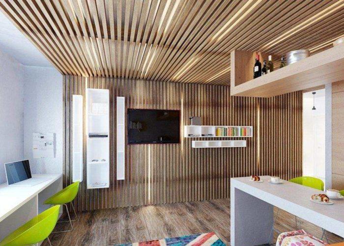 Реечные потолки для оформления кухни