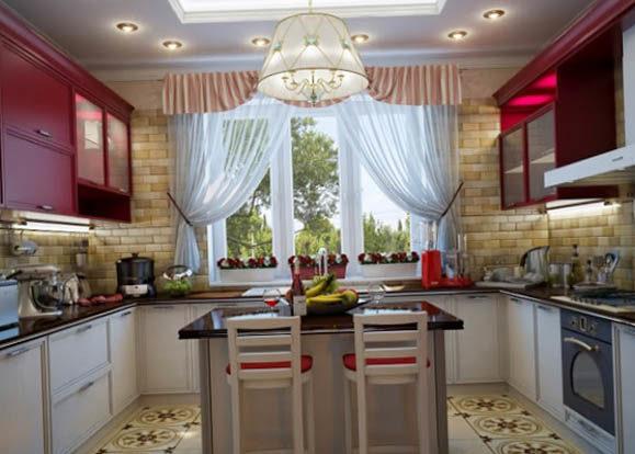 Шторы на кухню в стиле модерн