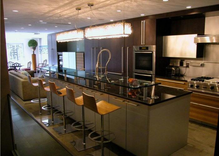 Барная стойка для кухни из акрила