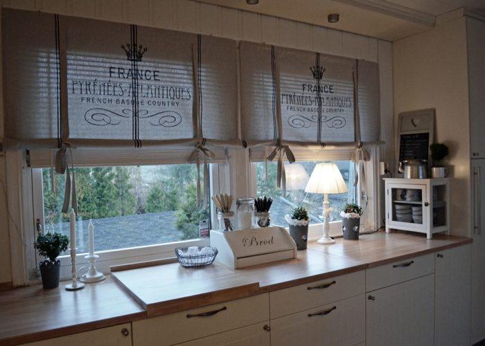 Шторы на кухню в стиле лофт