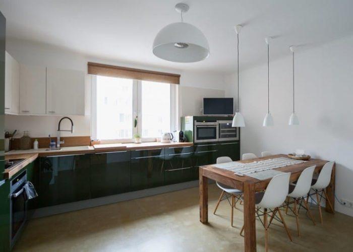 Дизайн потолка кухни в стиле минимализм
