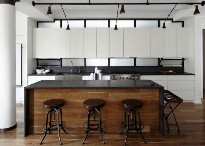 Барная стойка для кухни в стиле лофт