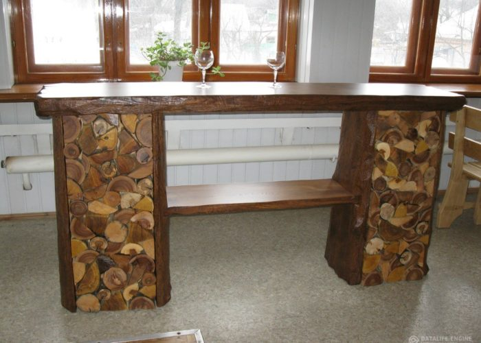 Барная стойка для кухни из дерева