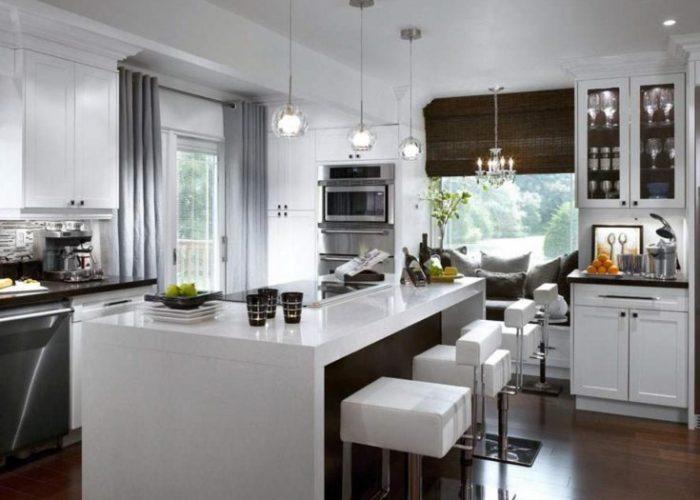 Шторы на кухню в стиле хай-тек