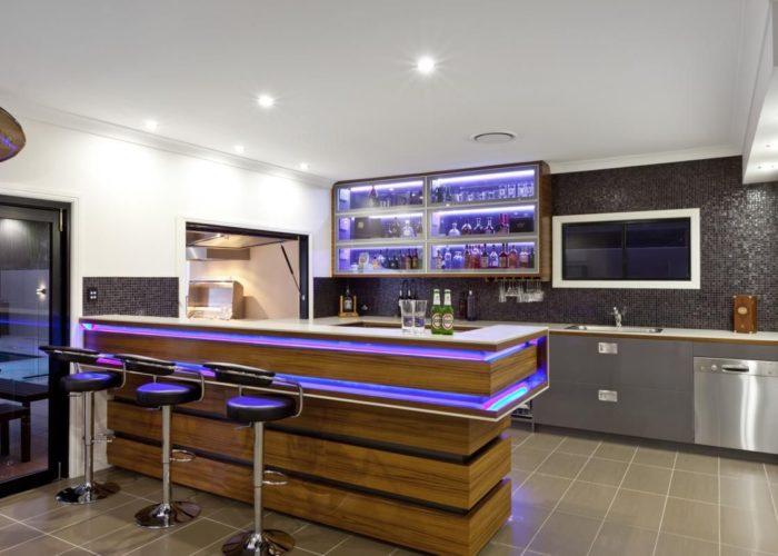Освещение кухонной барной стойки