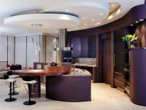 Дизайн потолков кухни (270 фото)